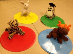 Animals acting out the feelings of each Zone.