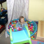 Ball pit in use
