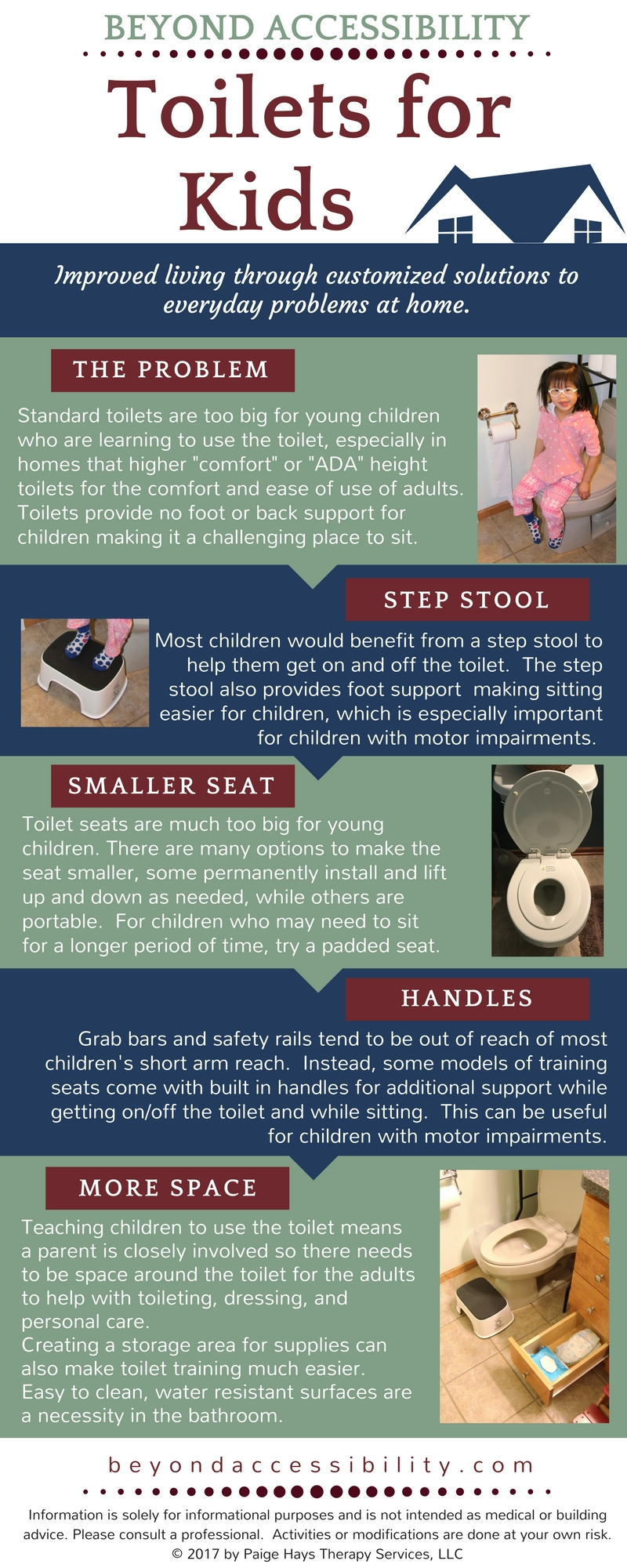 Toilet for kids infographic